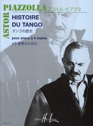 Histoire Du Tango. 4 Mains Astor Piazzolla Partition laflutedepan
