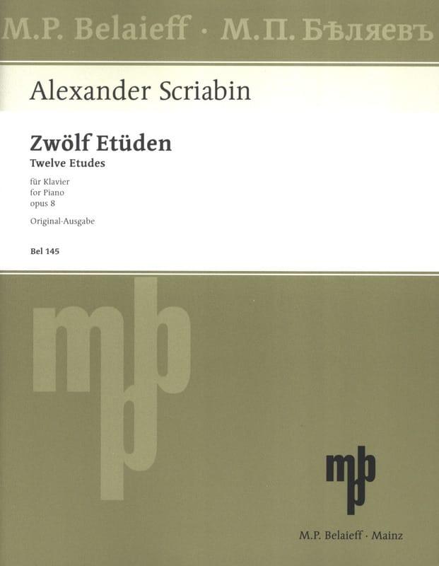 12 Etudes Opus 8 - SCRIABINE - Partition - Piano - laflutedepan.com