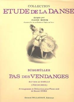Pas des Vendanges. Giselle Frédéric Burgmuller Partition laflutedepan