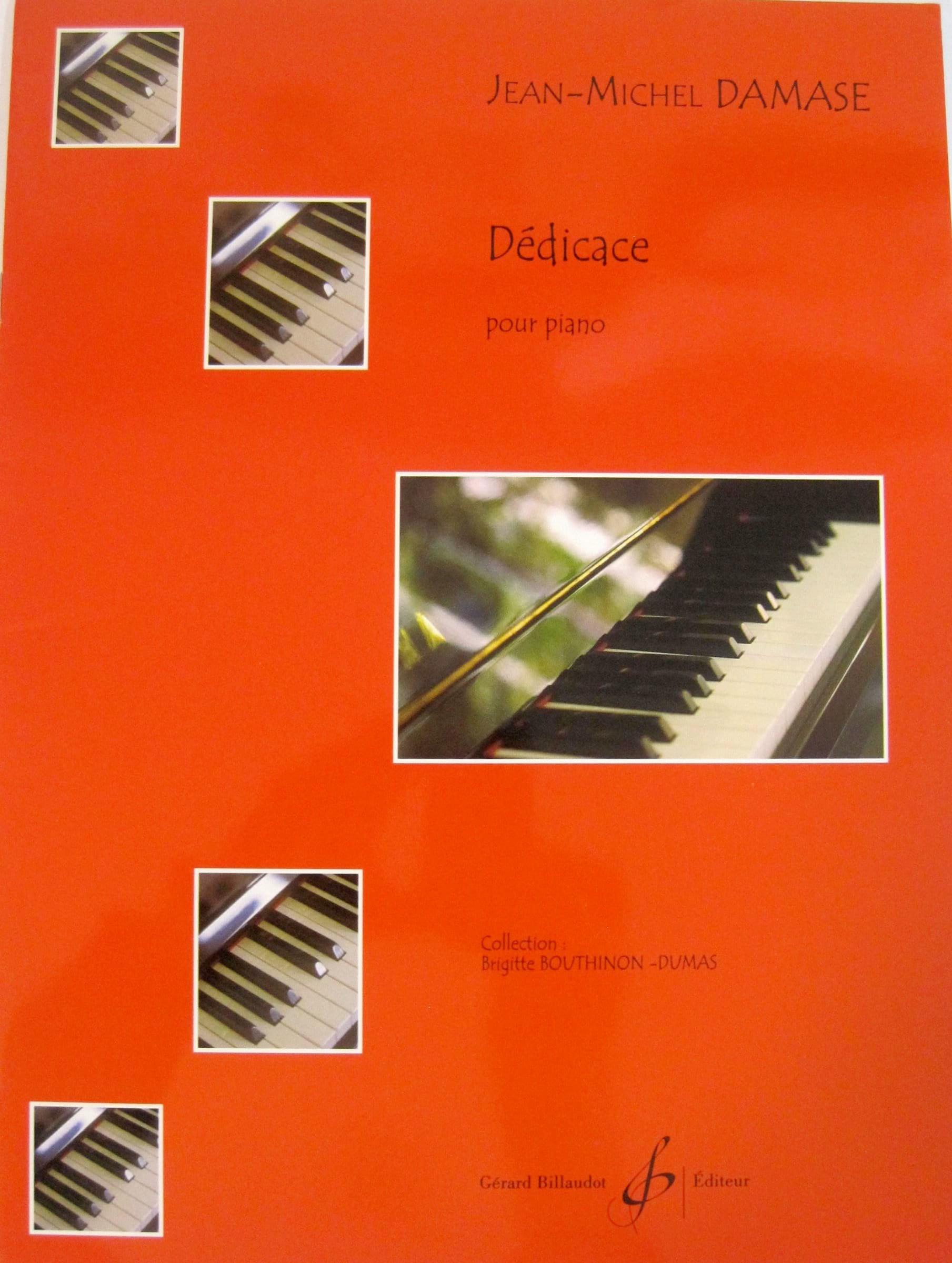 Dédicace - Jean-Michel Damase - Partition - Piano - laflutedepan.com