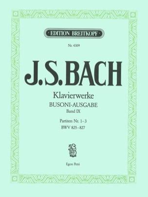 Partiten, Nr. 1-3. Volume 9 BACH / BUSONI Partition laflutedepan