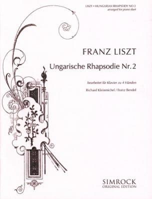Rhapsodie Hongroise N°2. 4 Mains LISZT Partition Piano - laflutedepan