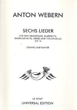 6 Lieder Op. 14 WEBERN Partition laflutedepan
