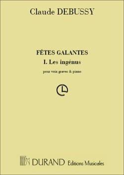 Les Ingénus. DEBUSSY Partition Mélodies - laflutedepan