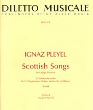 Scottish Songs Volume 1 - Ignaz Pleyel - Partition - laflutedepan.com