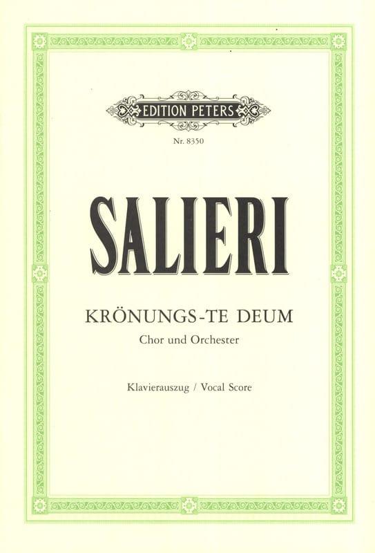 Krönungs-Te Deum - SALIERI - Partition - Chœur - laflutedepan.com
