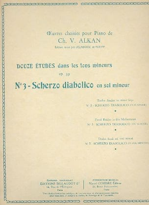Scherzo Diabolico En Sol Mineur Op. 39-3 - ALKAN - laflutedepan.com