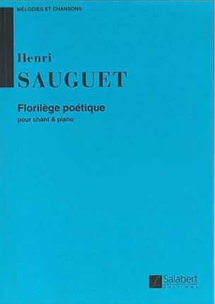 Florilège Poétique Henri Sauguet Partition Mélodies - laflutedepan