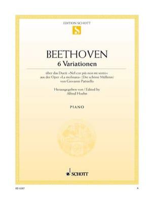 6 Variations Sol Majeur WoO 70 BEETHOVEN Partition laflutedepan