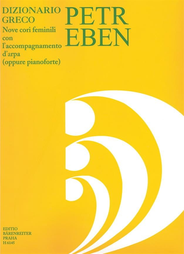 Dizionario Greco - Petr Eben - Partition - Chœur - laflutedepan.com