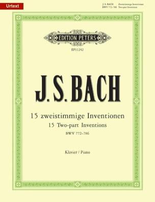 Inventions à 2 voix. BWV 772 - 786. BACH Partition laflutedepan