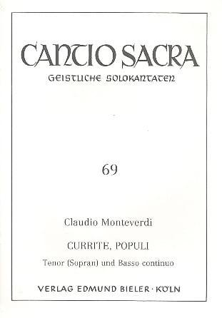 Currite Populi - MONTEVERDI - Partition - Mélodies - laflutedepan.com