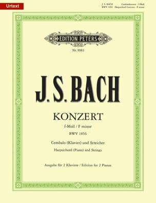 Concerto pour clavier en fa mineur BWV 1056 BACH laflutedepan