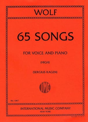 Hugo Wolf - 65 Songs. Aloud - Partition - di-arezzo.com