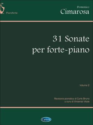 31 Sonates. Volume 2 CIMAROSA Partition Piano - laflutedepan