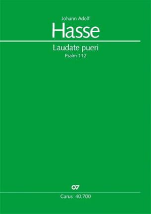 Laudate Pueri - Johann Adolf Hasse - Partition - laflutedepan.com