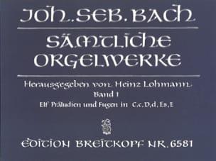 Sämtliche Orgelwerke Volume 1 BACH Partition Orgue - laflutedepan