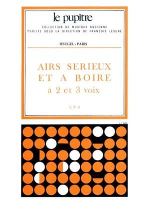 Airs Sérieux et A Boire Partition Chœur - laflutedepan