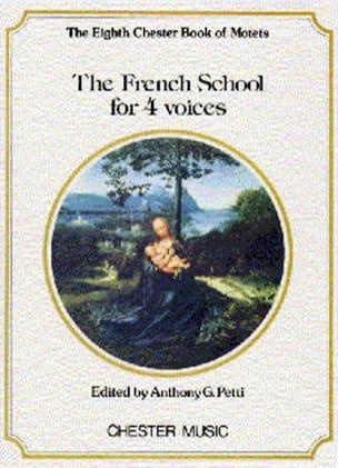 The French School for 4 Voices Partition Chœur - laflutedepan