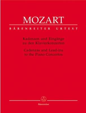 Cadences pour les concertos pour piano MOZART Partition laflutedepan