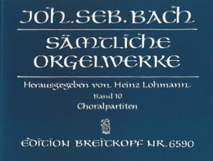 Sämtliche Orgelwerke Volume 10 BACH Partition Orgue - laflutedepan