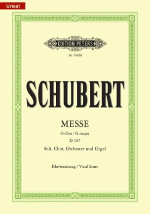 SCHUBERT - Mass in G Major D 167 - Partition - di-arezzo.com