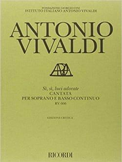 VIVALDI - Si, If Luci Adorate RV 666 - Partition - di-arezzo.com