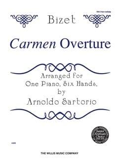 Carmen Ouverture. 6 mains BIZET Partition Piano - laflutedepan