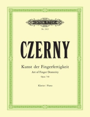 L'Art de Délier les Doigts Opus 740 (699) CZERNY laflutedepan