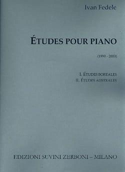Etudes pour piano Ivan Fedele Partition Piano - laflutedepan
