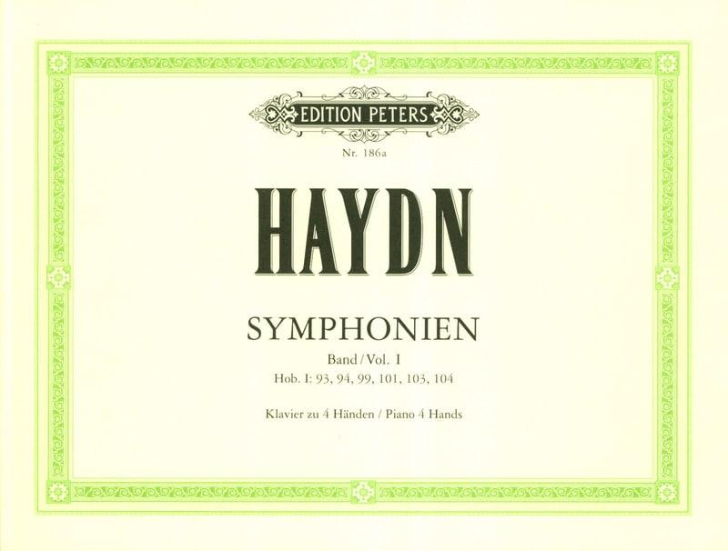 Symphonies Volume 1. 4 Mains - HAYDN - Partition - laflutedepan.com