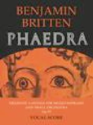 Phaedra Opus 93 - BRITTEN - Partition - Mélodies - laflutedepan.com