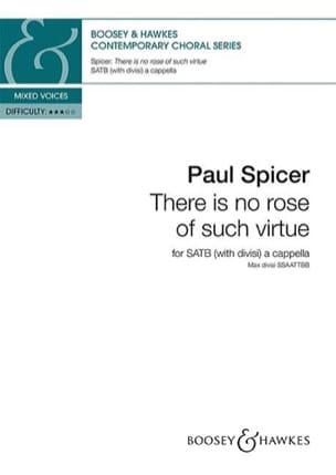 There is no rose of such virtue Paul Spicer Partition laflutedepan