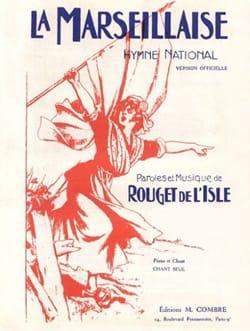 La Marseillaise. de Lisle Rouget Partition Mélodies - laflutedepan