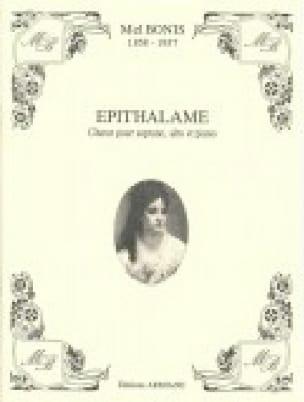 Epithalame - Mel Bonis - Partition - Chœur - laflutedepan.com