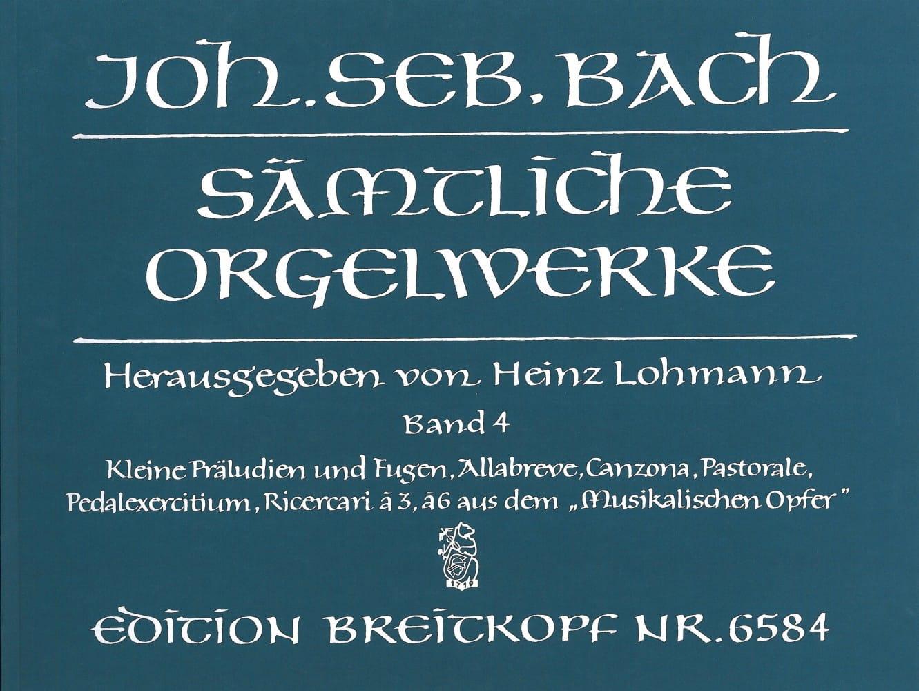 Sämtliche Orgelwerke Volume 4 - BACH - Partition - laflutedepan.com