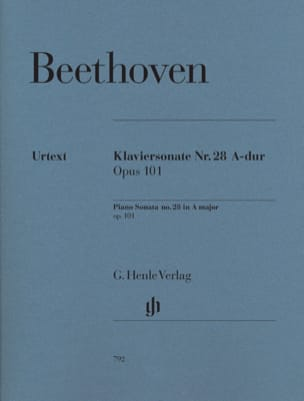 Sonate Pour Piano n° 28 En la Majeur Opus 101 BEETHOVEN laflutedepan
