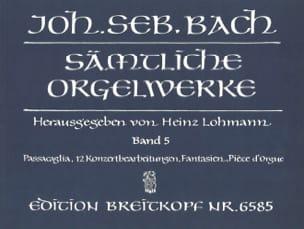 Sämtliche Orgelwerke Volume 5 BACH Partition Orgue - laflutedepan
