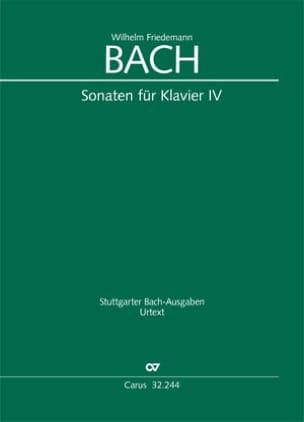 Sonates pour clavier - Volume 4 Wilhelm Friedemann Bach laflutedepan
