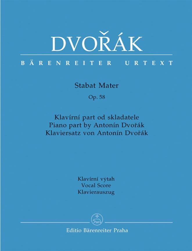 Stabat Mater Opus 58 - DVORAK - Partition - Chœur - laflutedepan.com