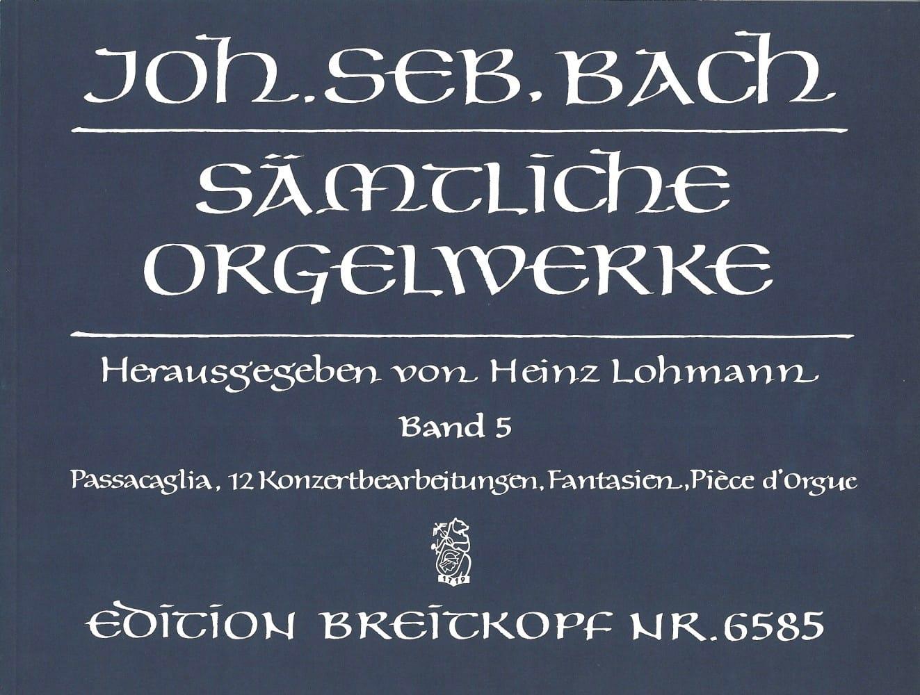Sämtliche Orgelwerke Volume 5 - BACH - Partition - laflutedepan.com