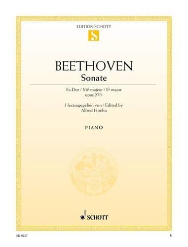 Sonate Es-Dur, Op. 27-1 - BEETHOVEN - Partition - laflutedepan.com
