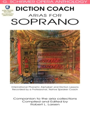 Diction Coach Arias For Soprano. Volume 1 Partition laflutedepan