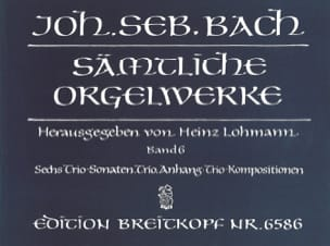 Sämtliche Orgelwerke Volume 6 BACH Partition Orgue - laflutedepan