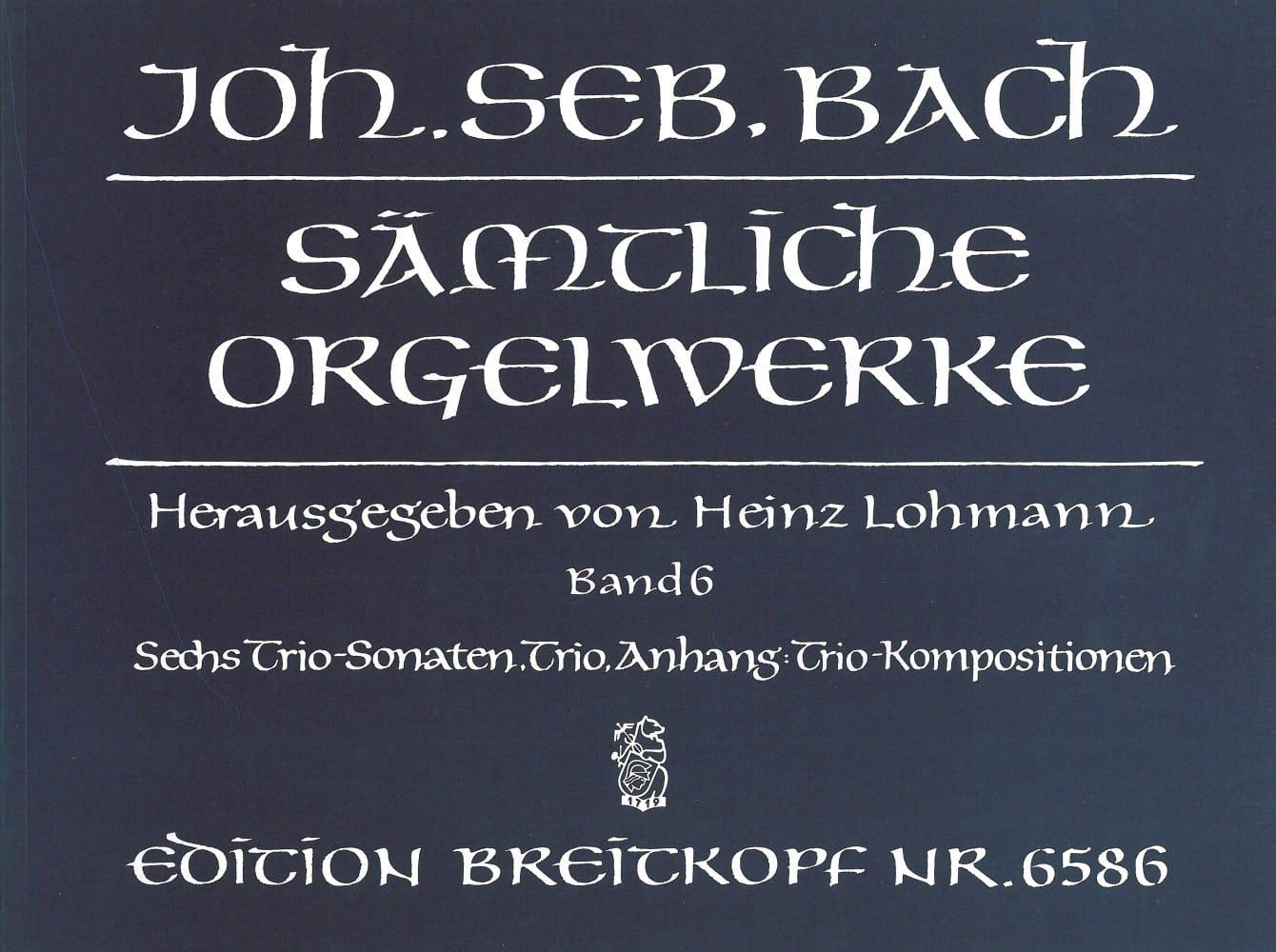 Sämtliche Orgelwerke Volume 6 - BACH - Partition - laflutedepan.com
