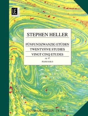 25 Etudes Opus 47 Stephen Heller Partition Piano - laflutedepan