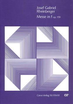 Messe En F Opus 159 RHEINBERGER Partition Chœur - laflutedepan