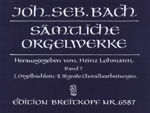 Sämtliche Orgelwerke Volume 7 BACH Partition Orgue - laflutedepan