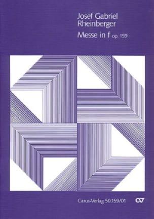 Messe En F Opus 159 - RHEINBERGER - Partition - laflutedepan.com