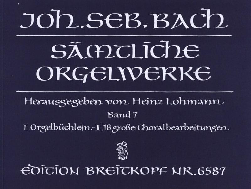Sämtliche Orgelwerke Volume 7 - BACH - Partition - laflutedepan.com
